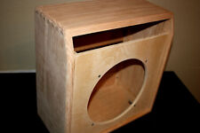 rawcabs Custom oak 1X12 empty combo cabinet for a Rivera Super Champ chassis