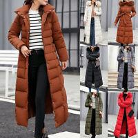 Jacket Classic Women's Coat Cotton Collar Fur Winter Warm Long Maxi Down Puffer