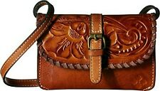 Patricia Nash Nwt Torri Crossbody Bag Burnished Tooled Leather-Gold Msrp $129