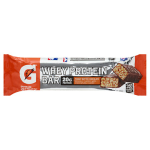 18 Gatorade Whey Protein Recover Bars Chocolate Peanut Butter BB 1-19-21 No box