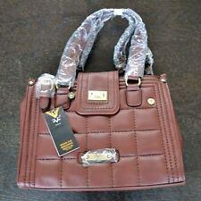 New Versace 1969 Womens Stephanie Brown Faux Leather Handbag Purse PLF1501