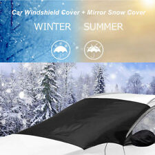 Car Windshield Cover Snow Sun Ice Frost Protector + Mirror Cover +Bag Universal