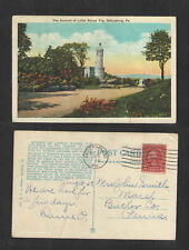 1928 THE SUMMIT OF LITTLE ROUND TOP GETTYSBURG PA POSTCARD