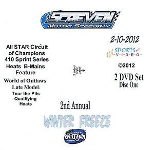 All Star Sprintcars DVD From Screven Motor Speedway 2-10+11-2012