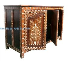 Antique Bone Inlay Chest Drawer Handmade Wood Furniture Home Decorative