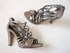 COMPTOIR DES COTONNIERS Talons Hauts strappy sandals/shoes all leather Très bon état UK 8
