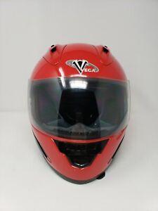 EUC Red Vega Altura XPV DOT Approved Motorcycle Helmet Model WS-10
