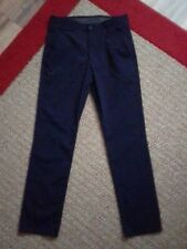 Chaps Boys School Approved Performance Trousers 14R Navy Blue, Polyester/Spandex