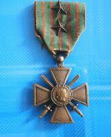 """#0644# Médaille militaire """"Croix de guerre 1914/1918"""" avec 2 étoiles en bronze"""