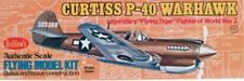 P-40 WARHAWK #501 Guillows Balsa Wood Model Airplane Kit