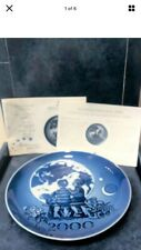 "2000 Royal Copenhagen Millennium Plate"" Brand New Sealed Box Excellent Cond"