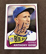 Anthony Gose Signed 2014 Topps Heritage Autographed TOUGH Auto Card Blue Jays