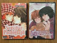 Sensitive Pornograph Manga & DVD Combo Ashika Sakura Yaoi BL Boys Love