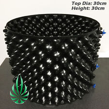 4x Air Grow Pot Rocket Pot 30x30cm With Solid Auto Feeding Design Base Root Pot