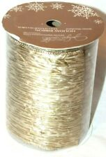 Jaclyn Smith Winter Woodland Christmas Holiday Gold Ribbon 5.5in x 12 ft
