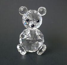 "Swarovski Crystal Sitting BEAR~~Black Bead Eyes & Nose~~2 3/4"" Tall"