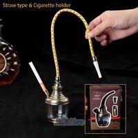 Hookah 2 Way Glass Water Pipe Vase Tobacco Shisha Nargile Smoking Bong Set 2019