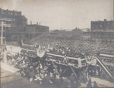 1900s PHOTOGRAPH McCONNELSVILLE OH/OHIO? BUSINESS EXPO TOWN CENTER GRANDSTAND