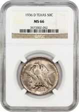 1936-D Texas 50c NGC MS66 - Low Mintage Issue - Silver Classic Commemorative