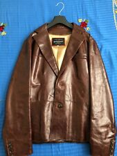 Men's Leather Blazer, Hand Made, Brown Colour, Size 40