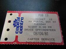 1981 Bruce Springsteen Ticket guter Zustand Capital Centre Landover Md selten