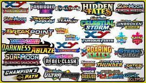 100x Pokemon Online Booster TCG Codes - SS S&M XY Code Set Mix Bulk Sword Shield