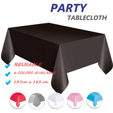 Wedding Party Tablecover Table Cover Cloth Plastic Tablecloth Birthday 6 Colour