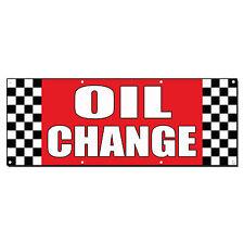 Oil Change Auto Body Shop Car Repair Banner Sign 2 ft x 4 ft /w 4 Grommets