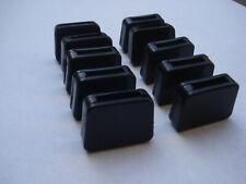 Lot de 10 embouts enveloppants pour fer plat 20x5mm noir patin chaise type IKEA