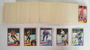 1984-85 O-Pee-Chee Hockey Partial Set 330/342 Gilmour Neely Chelios RC Gretzky +