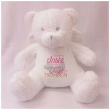 Personalised Memory Memorial Angel Teddy Bear Keepsake Gift