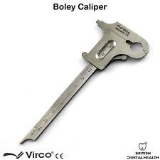 Boley coulissant dixième guage Vernier Pied à coulisse acier laboratoire dentaire diamant instrument ce