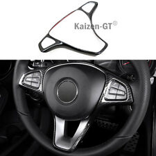 Carbon Fiber Type Steering Wheel Cover For Benz C-Class W205 14-17 / GLC-Class