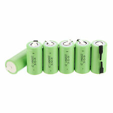 10Pcs Sub C SC Batteries 1.2V 2200mAh Ni-Cd Rechargeable Battery in Green Color