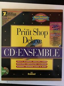 The Print Shop Deluxe, Broderbund 1994 PC, cards, signs, calendars, etc. SEALED!