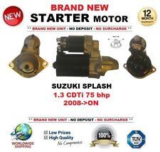 Para SUZUKI SPLASH 1.3 CDTI 75 Cv 2008-ON motor de arranque 1.1 kW 9 Dientes Nuevo