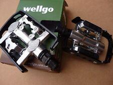 Wellgo Pedals Shimano Compatible MTB Road Trek SPD Platform Cleats Clipless