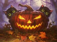 Jigsaw Puzzle Seasonal Halloween Scardy Cats 300 pieces NEW Made in the USA