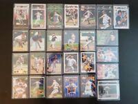 Huge Greg Maddux Lot of 34 Cards in Toploaders w/ Rookies, HOF, RARE