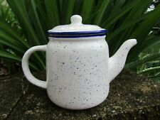 Blue Speckled Ceramic Teapot from Blue Harbor