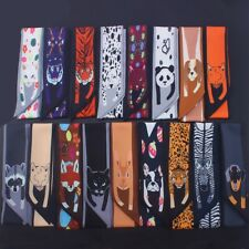 Womens Twilly Animals Cheetah Scarf Soft Bag Ribbon Tie Handle Band Head Scarves