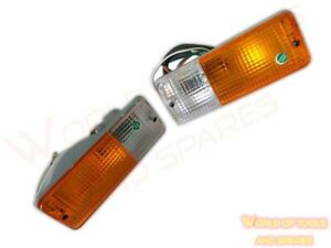 Front Turn Signal Indicator Light Pair - Suzuki SJ413,SJ410 Jimny,Samurai,Sierra