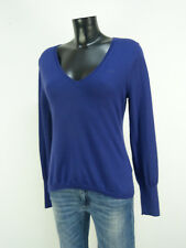 Marc O 'Polo Pull T M/violet foncé & Merino Laine-comme neuf (O 1183)