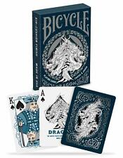 1 Deck Bicycle Dragon Blue & White Standard Poker Playing Cards Brand New Deck