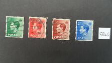 GB45  1936 EDWARD VIII  Set of 4 fine used  stamps