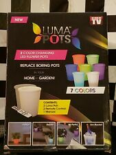 Luma Pots Color Changing Led Light Flower Pot w/ Remote Brand New In Box!