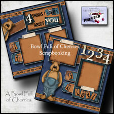 Bowling Premade Paper Piecing Title Embellishment 4 Cards Pages SC4S