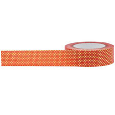Little B: Halloween Orange w/ Gold Polka Dots Washi Tape, 10m - for Cards/Crafts