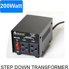 200W STEP DOWN TRANSFORMER STEPDOWN 240V - 110V BLACK