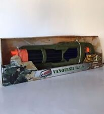 NEW Army Vanquish Military Plastic Play Toy Gun Barrel Machine Gun Sounds NIB